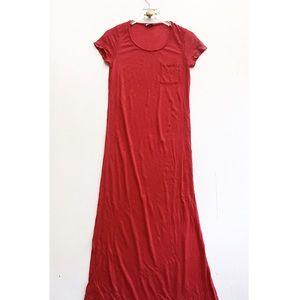 splendid / sheer pocket casual maxi shirt dress